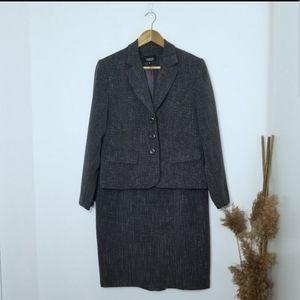 Lindor Petites | Skirt Suit Separates Gray Size 10